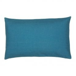 Single tone Egyptian blue rectangular cotton linen cushion cover