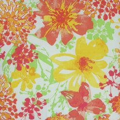 Close up of floral outdoor cushion cover
