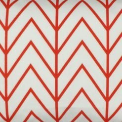 Close up of rectangular velvet cushion cover with zigzag pattern