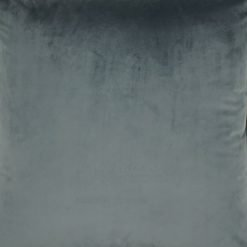 Close up of grey velvet cushion cover