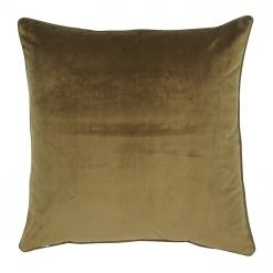 Large 55x55cm monotone brown velvet outdoor cushion