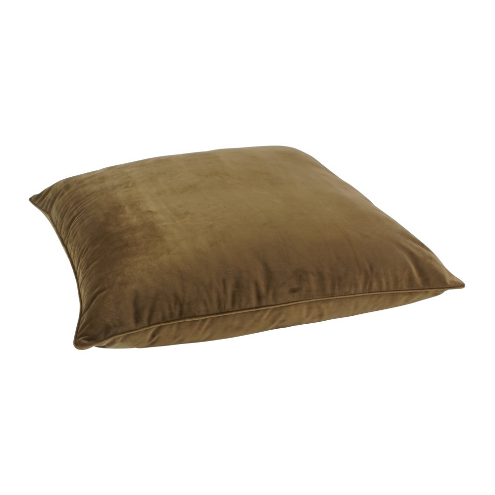 Large shiny brown velvet floor cushion