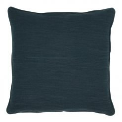 Image of square navy polyester cushion cover