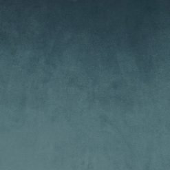 Close-up photo of rectangular blue grey velvet cushion cover
