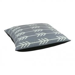 Photo of grey floor cushion cover in velvet fabric