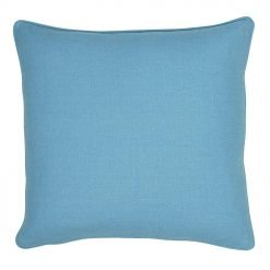 Photo of polyester cushion cover in blue colour