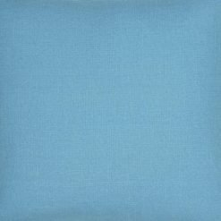 Close-up photo of blue cushion cover in polyester fabric
