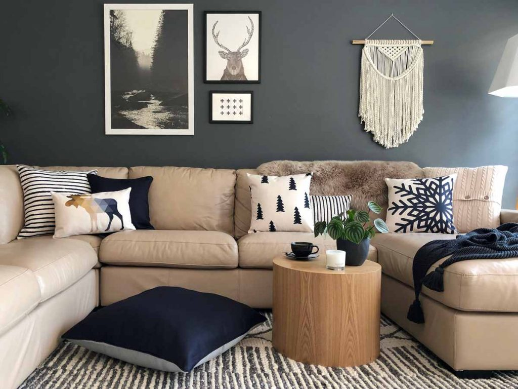 A collection of scandi inspired cushions