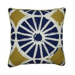 Cushion cover in Blue, White and Olive Green colours (45cmx45cm)