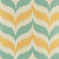 yellow and blue grey chevron cotton linen cushion (45cmx45cm)