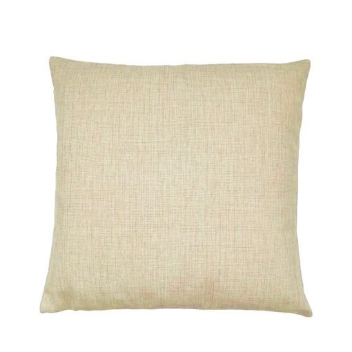 picture of the back part of the blue and white shell patterned cushion made from cotton linen