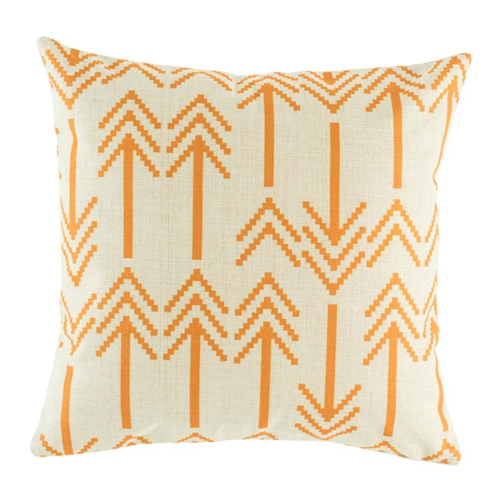 Bartlow Orange Cushion Cover - 45cm x 45cm
