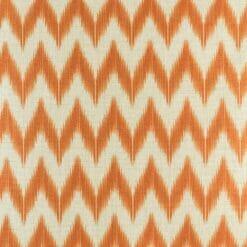 Close up of the orange chevron pattern cotton linen cushion cover