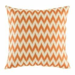 picture of cooton linen cushion in orange chevron design (45cmx45cm)