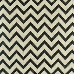 Black and white small Zig Zag pattern cushion made from cotton linen in size 45cmx45cm