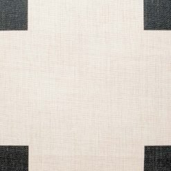 close up of the black and white cross 45cmx45cm cotton linen cushion cover