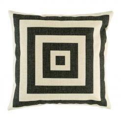 black and white square cotton linen cushion cover (45cmx45cm)