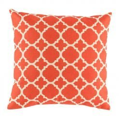 red and white patterned cushion cover (cotton linen 45cmx45cm)