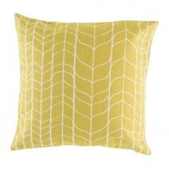 45cmx45cm cotton linen cushion in gold