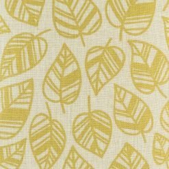 Close up look at the golden yellow leaves cotton linen cushion cover (45cmx4cm)