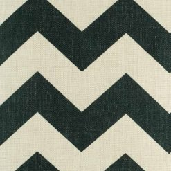 Close up of Black and white with large Zig Zag pattern cotton linen cushion cover (45cmx45cm)