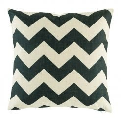 45cmx45cm Black and white Zig Zag design cushion made from cotton linen