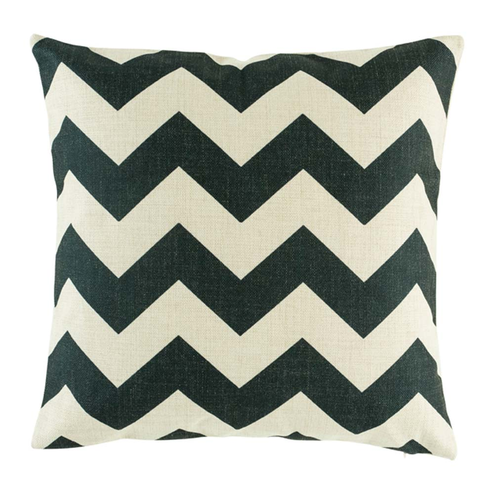 Grand Black Chevron Cushion Cover