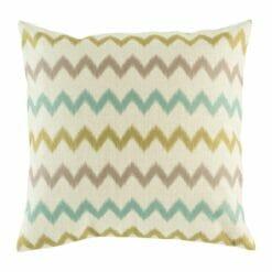 Cotton linen cushion cover chevron pattern in pastel colours (45cmx45cm)