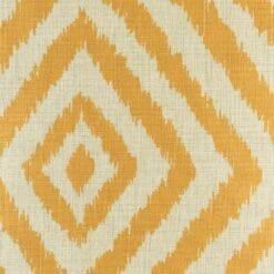 45cmx45cm cotton linen cushion cover with golden yellow diagonal pattern
