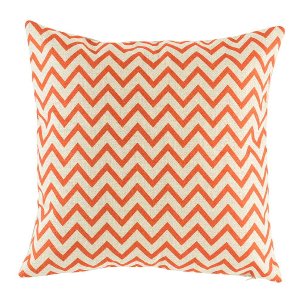 Petite Red Orange Chevron Cushion Cover
