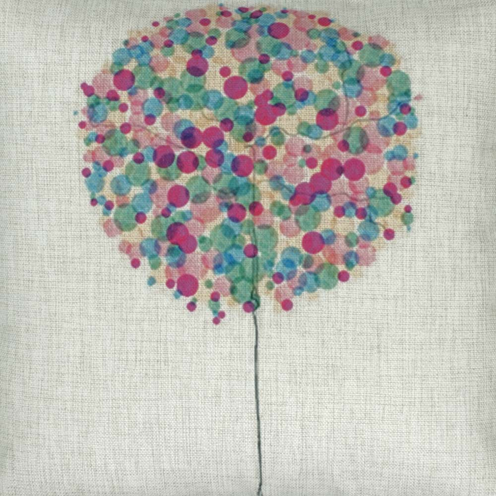 Purple Bubble Tree Cushion Cover
