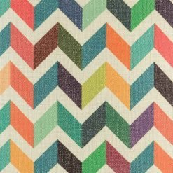 Closer look of the cotton linen Zig Zag pattern Cushion Cover in 45cmx45cm