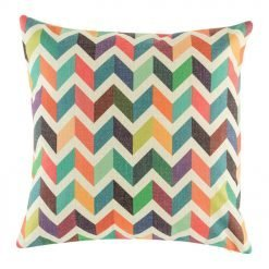 cushion cover in multiple colours and in zigzag pattern