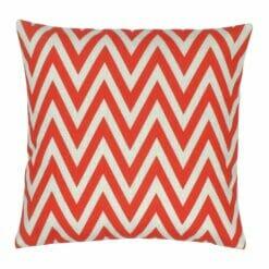 45cmx45cm red chevron cotton linen cushion