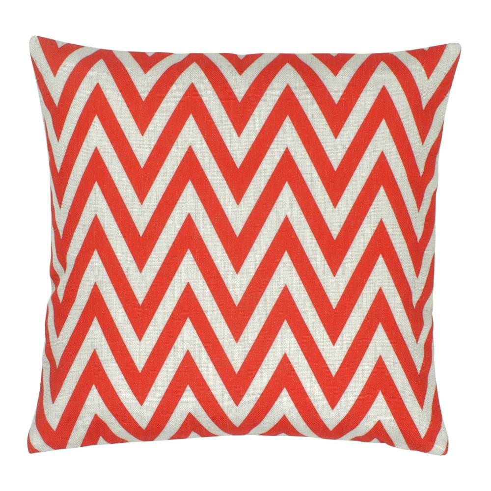 Red Chevron Cushion Cover