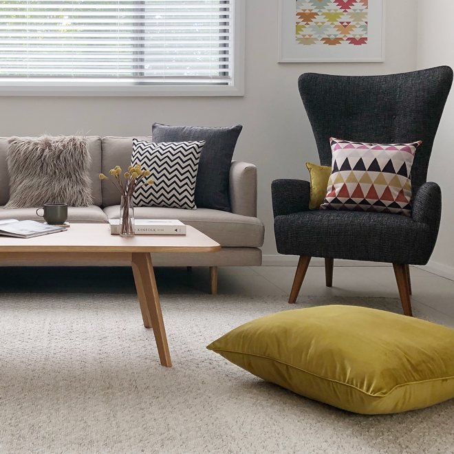 Get The Mid Century Modern Style Using Cushions New Zealand Simply Cushions Nz