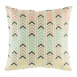 yellow,blue,pink arrow cushion cover made from cotton linen in 45cmx45cm