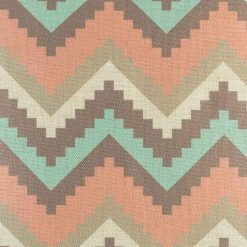 close up picture of the grey,blue,pink zigzag pattern 45cmx45cm cotton linen cushion cover