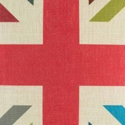 Closer look at the Vintage Union Jack cotton linen cushion (45cmx45cm)