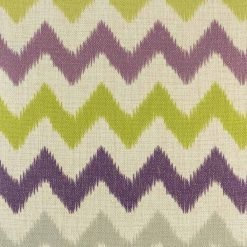 a close up of the purple, gree, and grey 45cmx45cm cotton linen cushion cover
