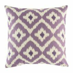 purple cotton linen 45cmx45cm cushion cover