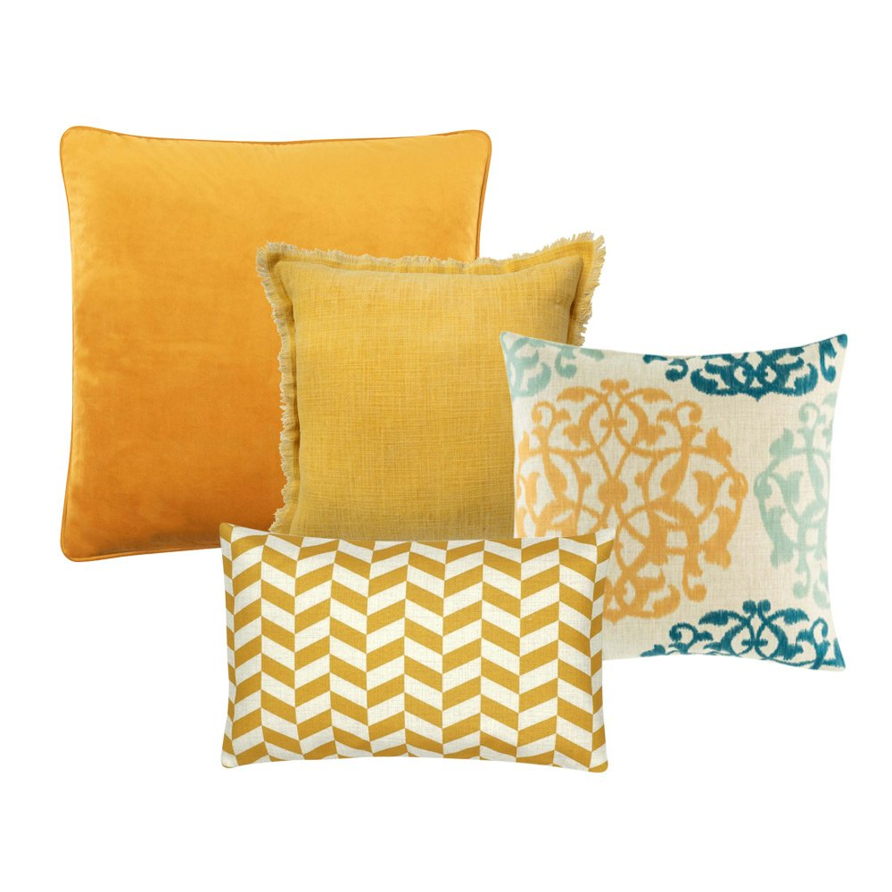 Vivid Mustard 4 Cushion Cover Collection